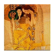 P1of2 Klimt Art Deco Tile Coaster Beethoven Freeze