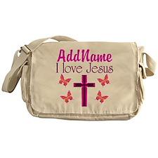 I LOVE JESUS Messenger Bag