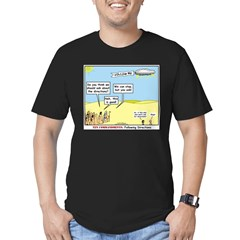 Wandering the Wilderness Men's Fitted T-Shirt (dar