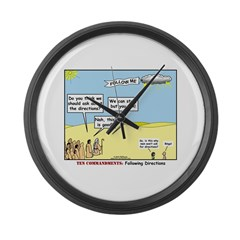 Wandering the Wilderness Large Wall Clock