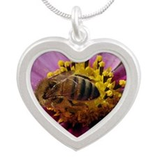 Bee Cosmo Silver Heart Necklace