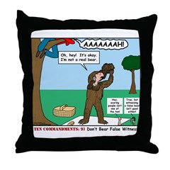 Witnessing False Bears Throw Pillow