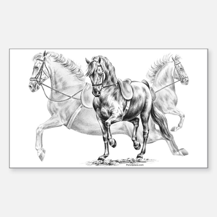 Elegant Horse Rectangle Decal