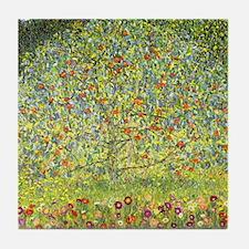 Gustav Klimt Art Tile Coaster Apple Tree