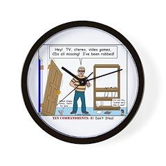 Thief Robbed Wall Clock