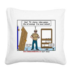 Thief Robbed Square Canvas Pillow