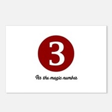 3 Its the Magic Number Postcards (Package of 8)