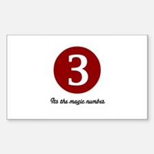 3 Its the Magic Number Rectangle Decal