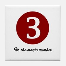 3 Its the Magic Number Tile Coaster