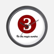 3 Its the Magic Number Wall Clock