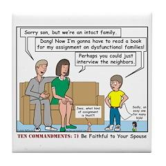 Intact Family Tile Coaster