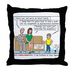 Intact Family Throw Pillow