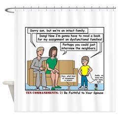 Intact Family Shower Curtain