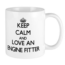 Keep Calm and Love an Engine Fitter Mugs
