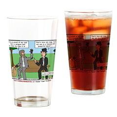 Bums Bragging Drinking Glass