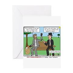 Bums Bragging Greeting Card