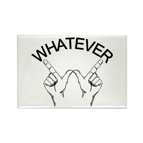 Whatever ... Hand gesture Rectangle Magnet (10 pac