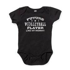 Future Volleyball Player Like My Mommy Baby Bodysu