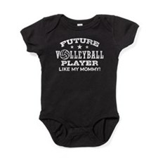 Future Volleyball Player Like My Mommy Baby Bodysu