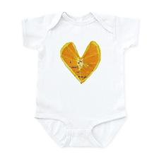 Orange Heart Infant Bodysuit