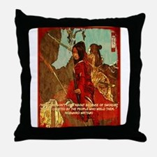 STRENGTH OF THE SAMURAI Throw Pillow