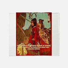 STRENGTH OF THE SAMURAI Throw Blanket
