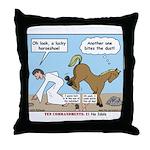 Unlucky Horseshoe Throw Pillow