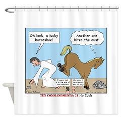 Unlucky Horseshoe Shower Curtain