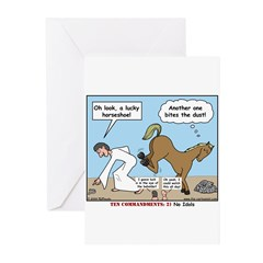 Unlucky Horseshoe Greeting Cards (Pk of 20)