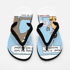 Lucky Horseshoe Flip Flops