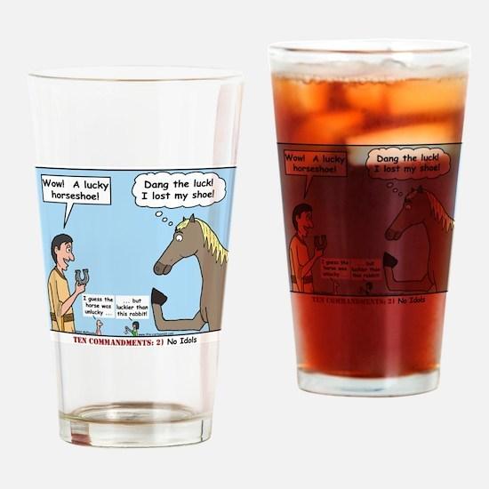 Lucky Horseshoe Drinking Glass