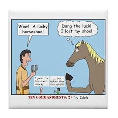 Lucky Horseshoe Tile Coaster