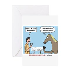 Lucky Horseshoe Greeting Card