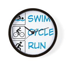 TRIathlon Wall Clock