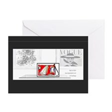 artbags 12x12 doodle 2 vogue display Greeting Card