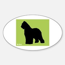 Briard iPet Oval Decal