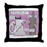 Pharaoh Uh-Oh Throw Pillow