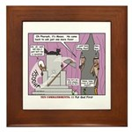 Pharaoh Uh-Oh Framed Tile