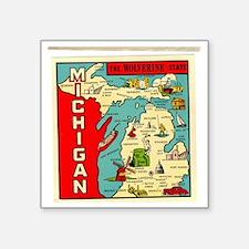 "State of Michigan Square Sticker 3"" x 3"""