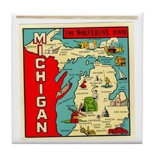 State of Michigan Tile Coaster