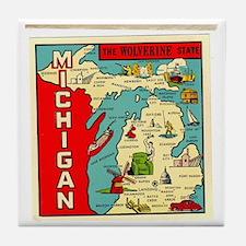 State of Michigan Tile Coaster