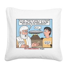 Fine Print Square Canvas Pillow