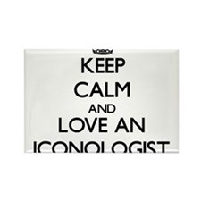 Keep Calm and Love an Iconologist Magnets