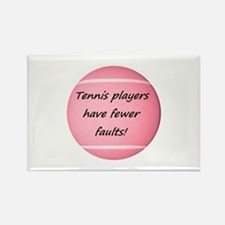 Tennis players have fewer faults! Magnets