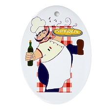 Italian chef! Ornament (Oval)