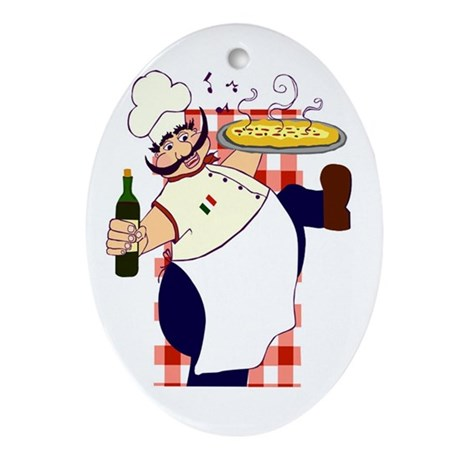 Italian chef! Ornament (Oval)