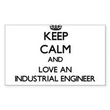 Keep Calm and Love an Industrial Engineer Decal