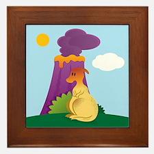 Dinosaur Theme Duck Bill Framed Tile