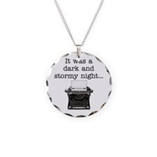 Dark and stormy - Necklace Circle Charm