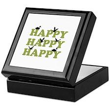 Green Digital Camo Happy Happy Happy Keepsake Box